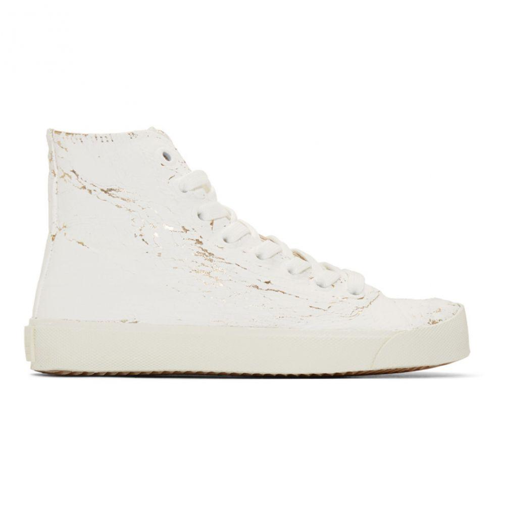 メゾン マルジェラ Maison Margiela レディース スニーカー シューズ・靴【White & Gold Tabi High-Top Sneakers】