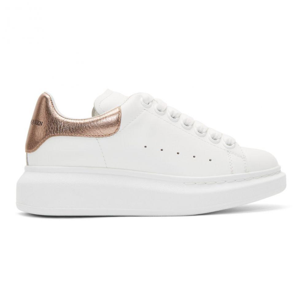 アレキサンダー マックイーン Alexander McQueen レディース スニーカー シューズ・靴【White & Rose Gold Metallic Oversized Sneakers】
