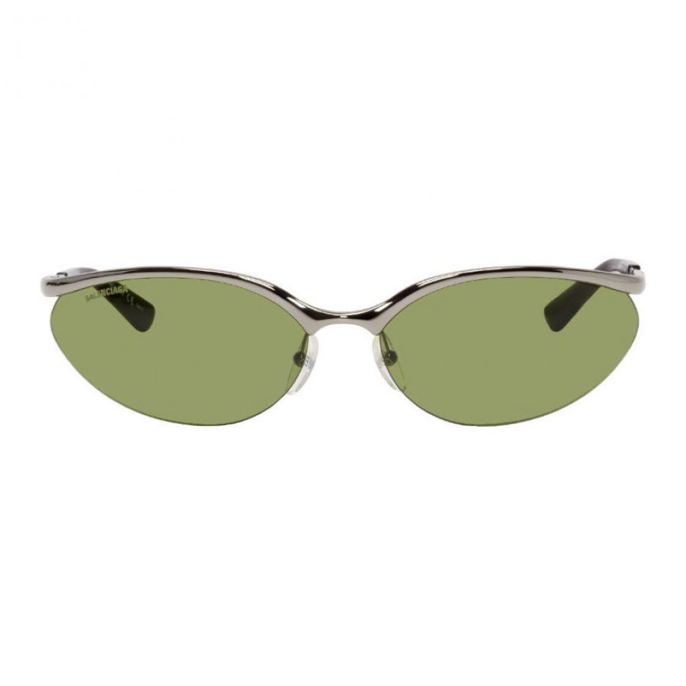 バレンシアガ Balenciaga メンズ メガネ・サングラス 【Gunmetal Fire Rectangular Sunglasses】