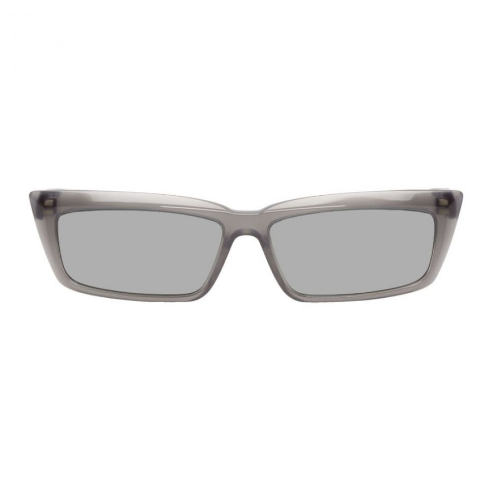 バレンシアガ Balenciaga メンズ メガネ・サングラス 【Grey Tip Rectangular Sunglasses】