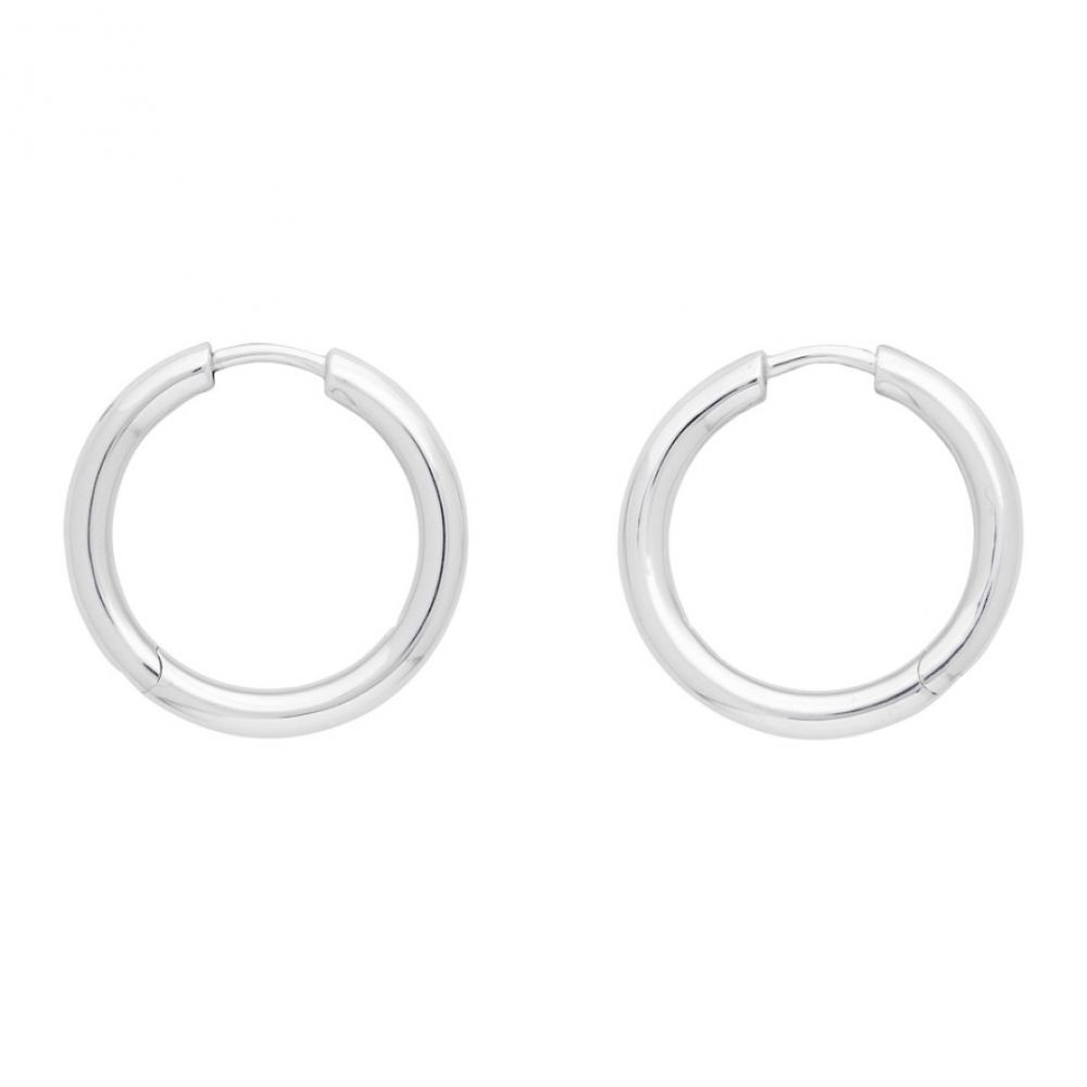 トムウッド Tom Wood メンズ イヤリング・ピアス ジュエリー・アクセサリー【Silver Classic Hoop Medium Earrings】