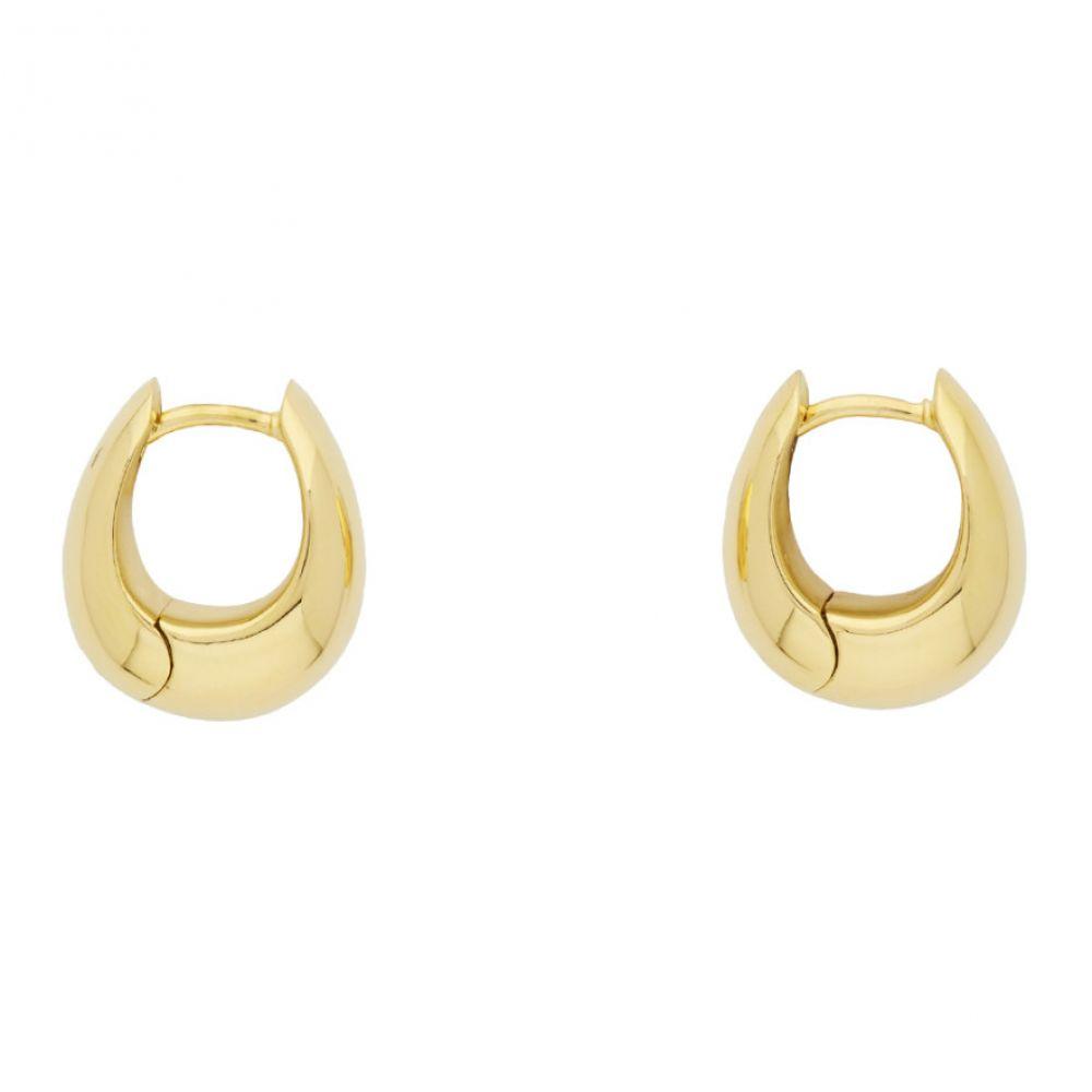 トムウッド Tom Wood メンズ イヤリング・ピアス ジュエリー・アクセサリー【Gold Ice Hoop S Earrings】