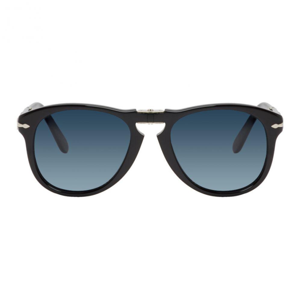 ペルソール Persol メンズ メガネ・サングラス 【Black & Blue Steve McQueen 714SM Sunglasses】