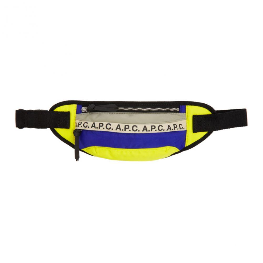 アーペーセー A.P.C. メンズ ボディバッグ・ウエストポーチ バッグ【Blue & Yellow Repeat Bum Bag】