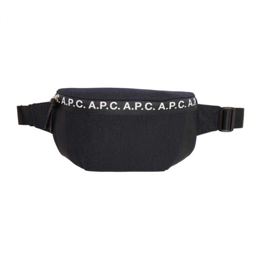 アーペーセー A.P.C. メンズ ボディバッグ・ウエストポーチ バッグ【Navy Savile Bum Bag】