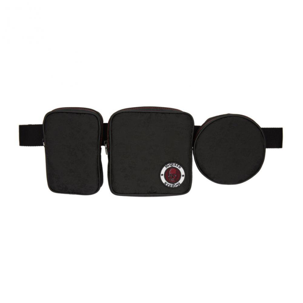 アレキサンダー マックイーン メンズ バッグ ボディバッグ・ウエストポーチ 【サイズ交換無料】 アレキサンダー マックイーン Alexander McQueen メンズ ボディバッグ・ウエストポーチ バッグ【Black Multi-Pouch Belt Bag】