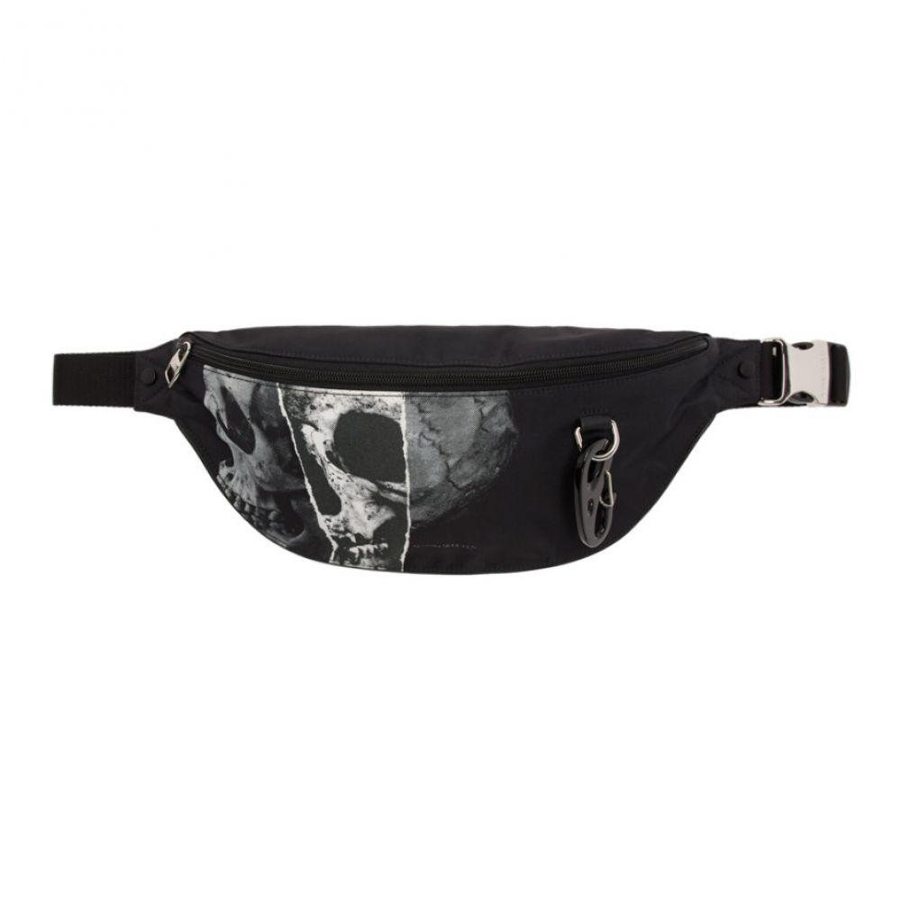 アレキサンダー マックイーン Alexander McQueen メンズ ボディバッグ・ウエストポーチ バッグ【Black Oversized Harness Bum Bag】