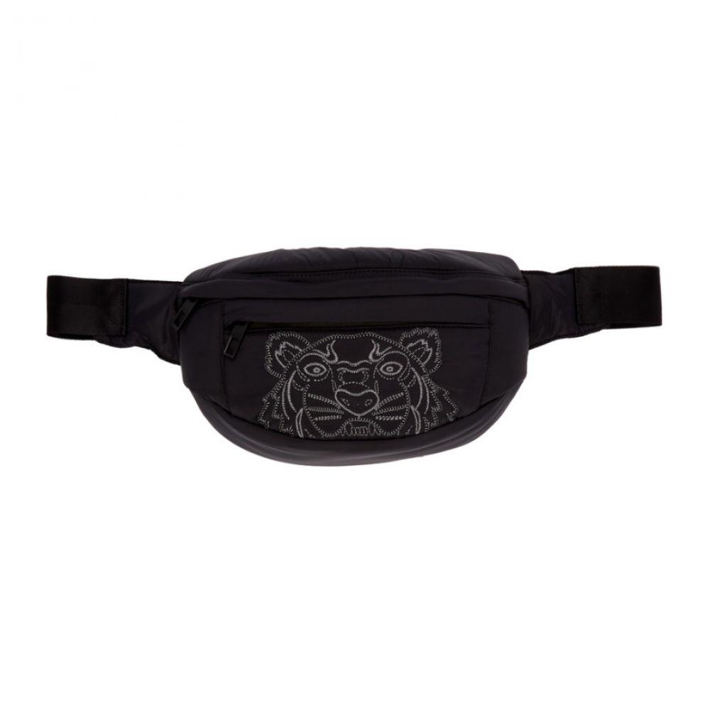 ケンゾー Kenzo メンズ ボディバッグ・ウエストポーチ バッグ【Black Kampus Tiger Bum Bag】
