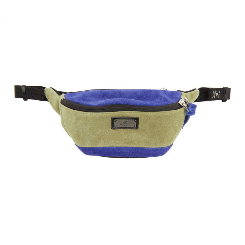 マスターピース Master-Piece Co メンズ ボディバッグ・ウエストポーチ バッグ【Beige & Blue Revise Waist Bag】