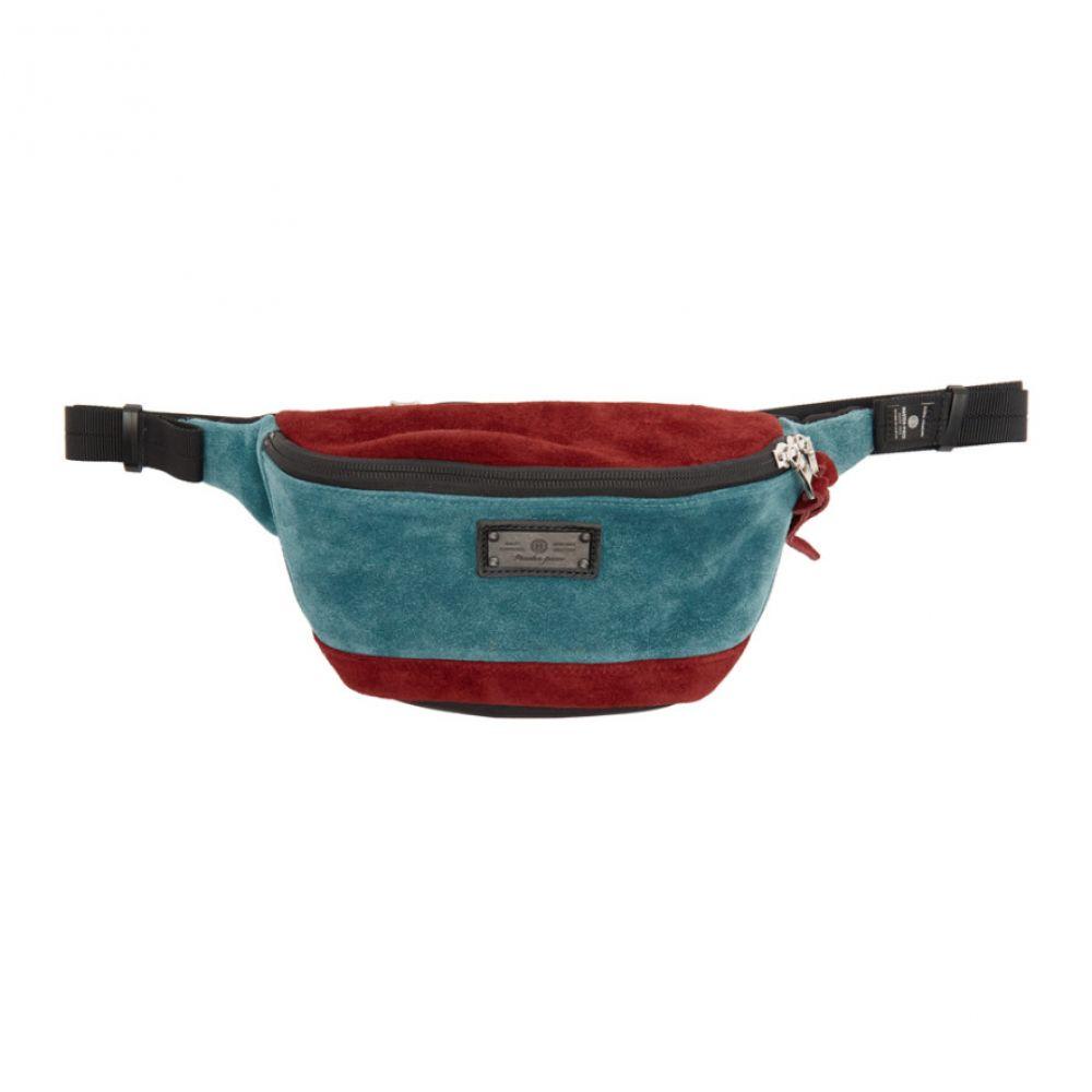 マスターピース Master-Piece Co メンズ ボディバッグ・ウエストポーチ バッグ【Burgundy & Blue Revise Waist Bag】