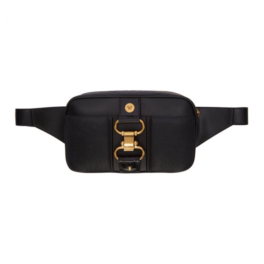ヴェルサーチ Versace メンズ ボディバッグ・ウエストポーチ バッグ【Black Damysus Belt Bag】