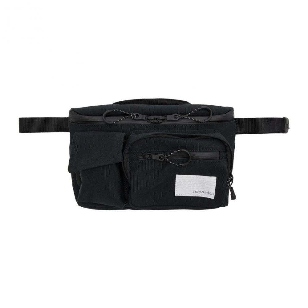 ナナミカ Nanamica メンズ ボディバッグ・ウエストポーチ バッグ【Black Canvas Waist Bag】