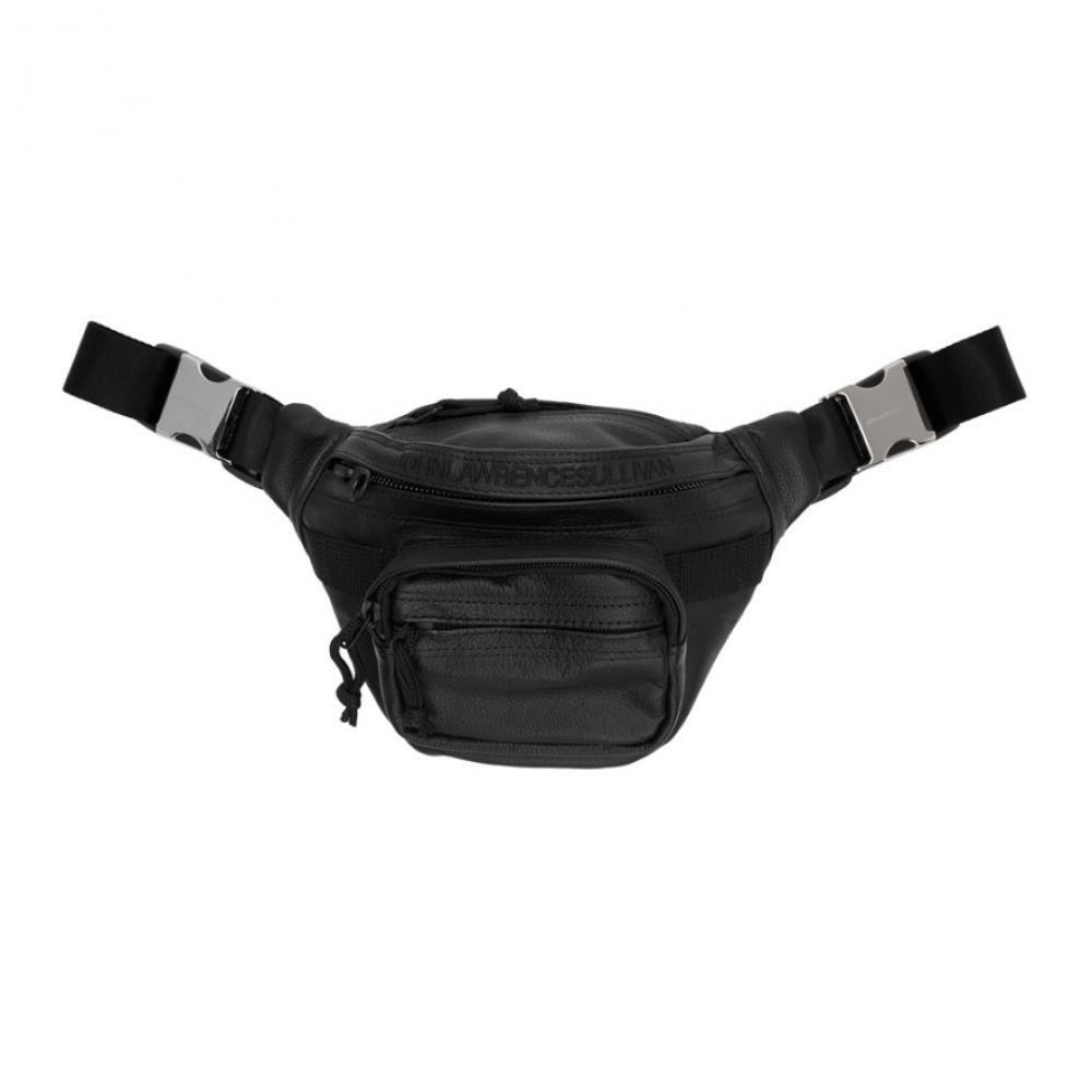ジョン ローレンス サリバン Johnlawrencesullivan メンズ ボディバッグ・ウエストポーチ バッグ【Black Leather Waist Pouch】