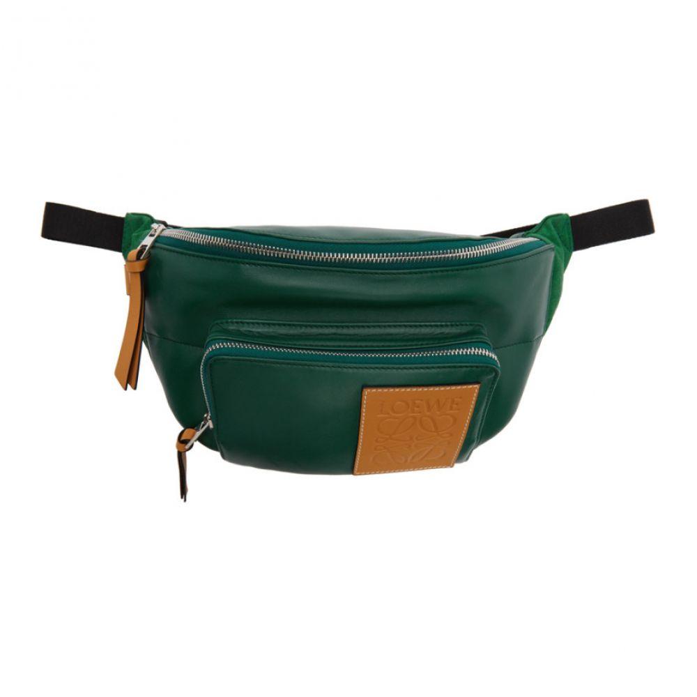 ロエベ Loewe メンズ ボディバッグ・ウエストポーチ バッグ【Green Puffy Bum Bag】