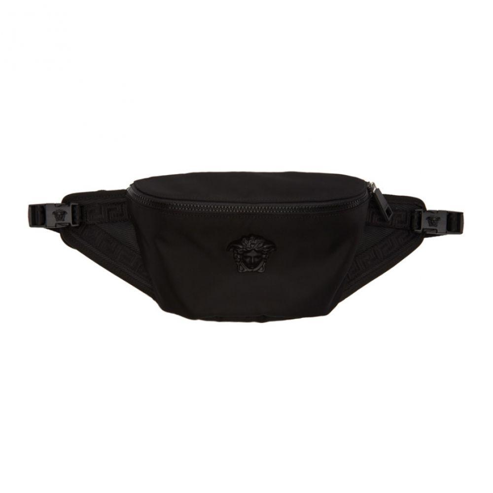 ヴェルサーチ Versace メンズ ボディバッグ・ウエストポーチ バッグ【Black Nylon Medusa Belt Pouch】
