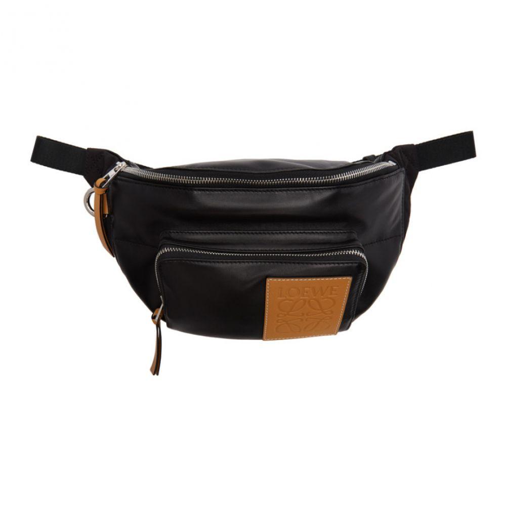 ロエベ Loewe メンズ ボディバッグ・ウエストポーチ バッグ【Black Puffy Bum Bag】
