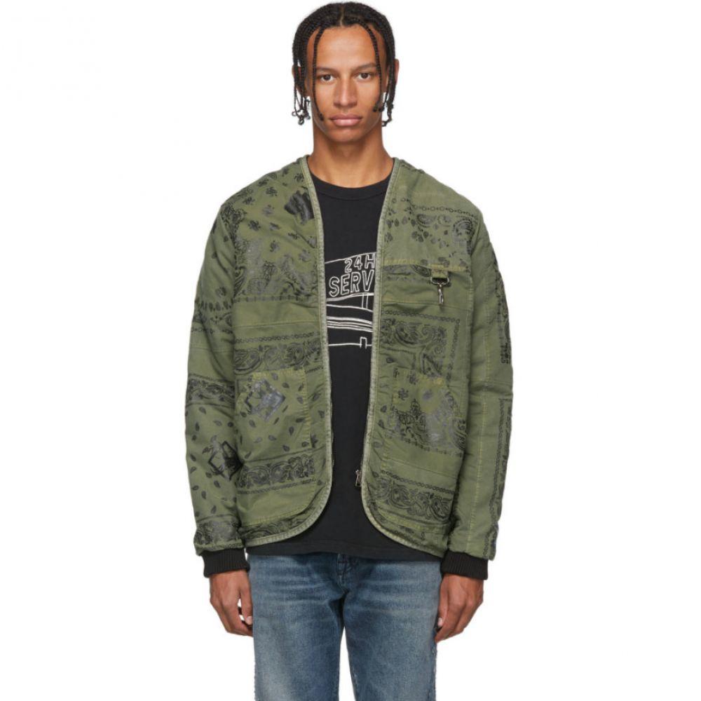 リースクーパー Reese Cooper メンズ ジャケット アウター【Green Bandana Parka Liner Jacket】