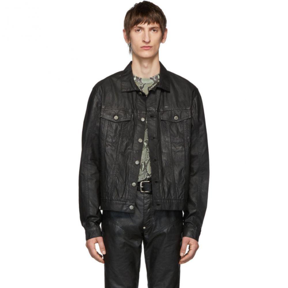 ジョン ローレンス サリバン Johnlawrencesullivan メンズ ジャケット Gジャン アウター【Black Oiled Cotton Denim Jacket】