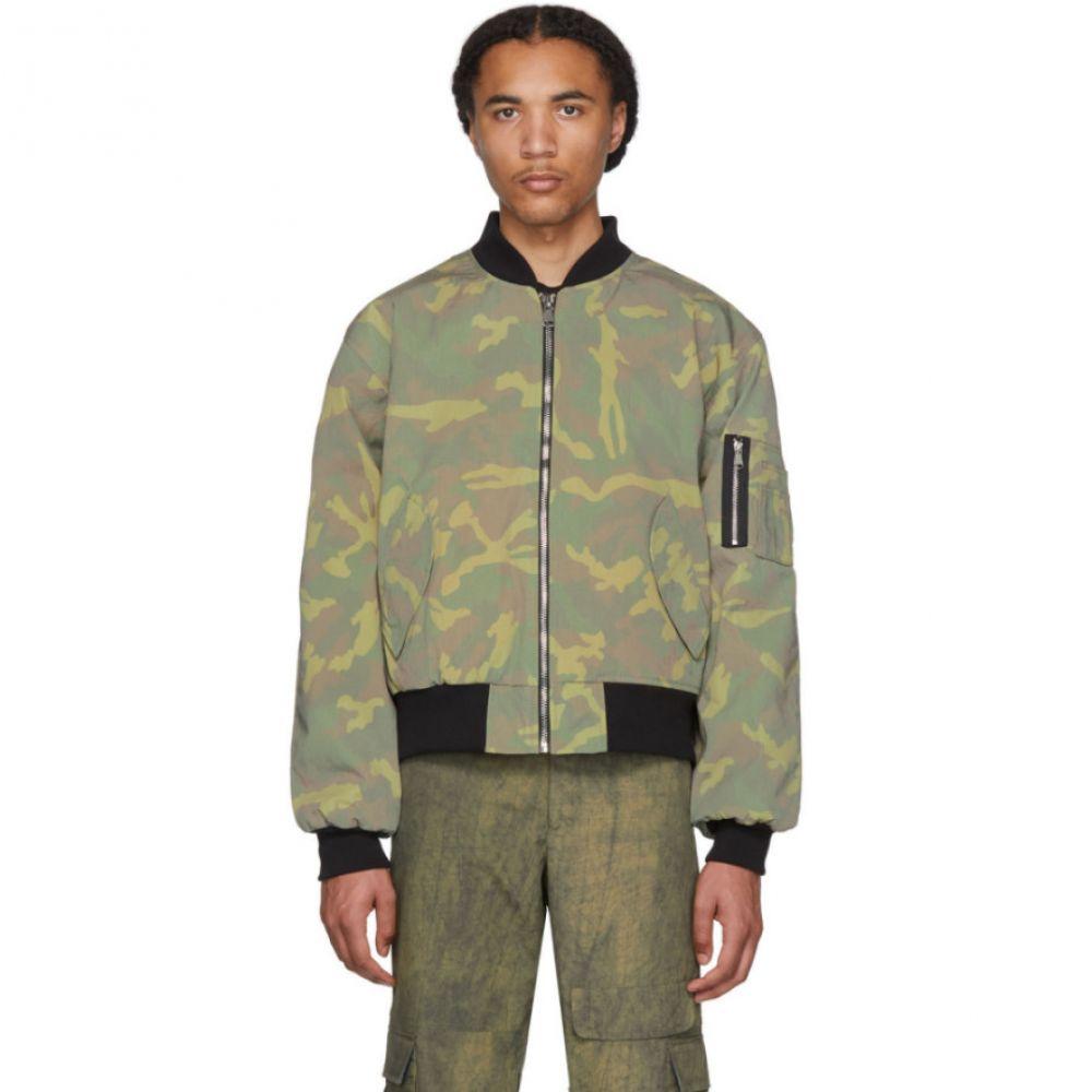 リゾートコープ Resort Corps メンズ ブルゾン ミリタリージャケット アウター【Green T-Shirt Panel Bomber Jacket】