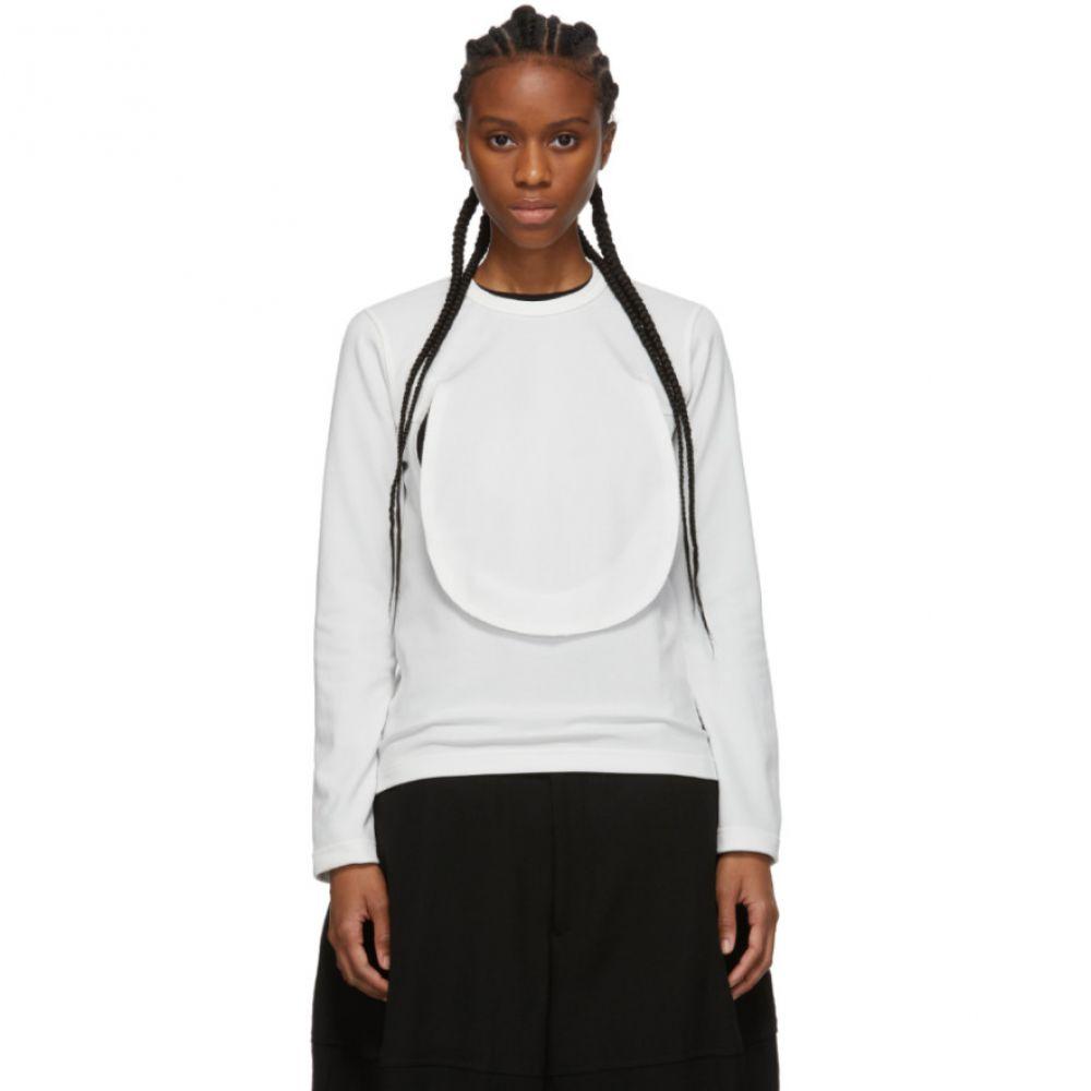 コム デ ギャルソン Comme des Garcons Comme des Garcons レディース 長袖Tシャツ トップス【White Circle Cut-Out Long Sleeve T-Shirt】