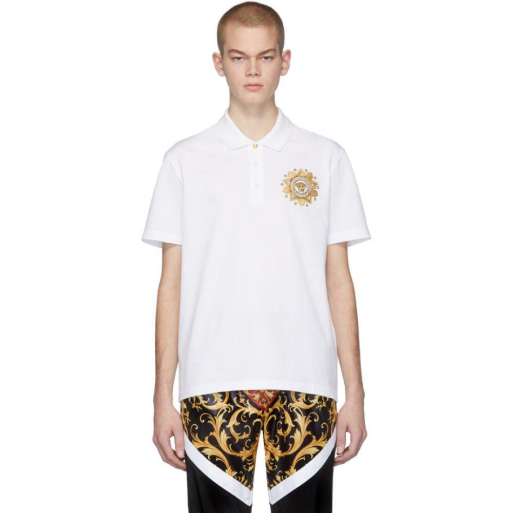 ヴェルサーチ Versace メンズ ポロシャツ トップス【White Medusa Polo】