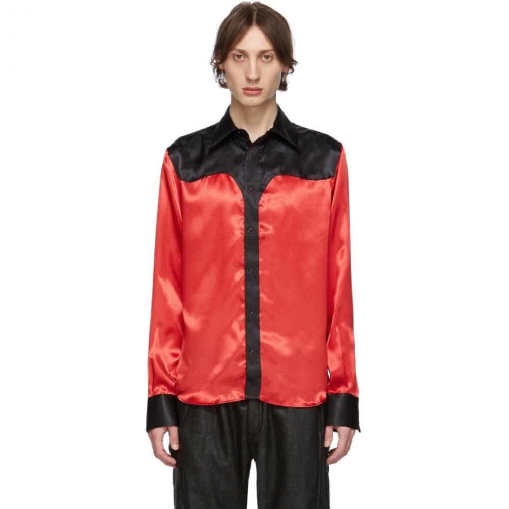 トリプルエス ワールド コープ SSS World Corp メンズ シャツ ウエスタンシャツ トップス【Black & Red Western Shirt】