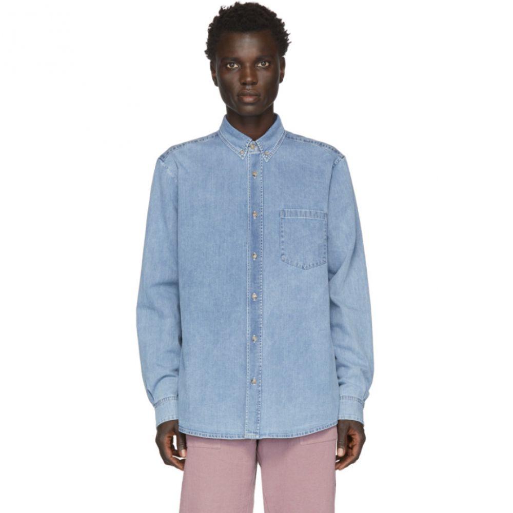 ナヌシュカ Nanushka メンズ シャツ デニム トップス【Blue Denim Kaleb Shirt】