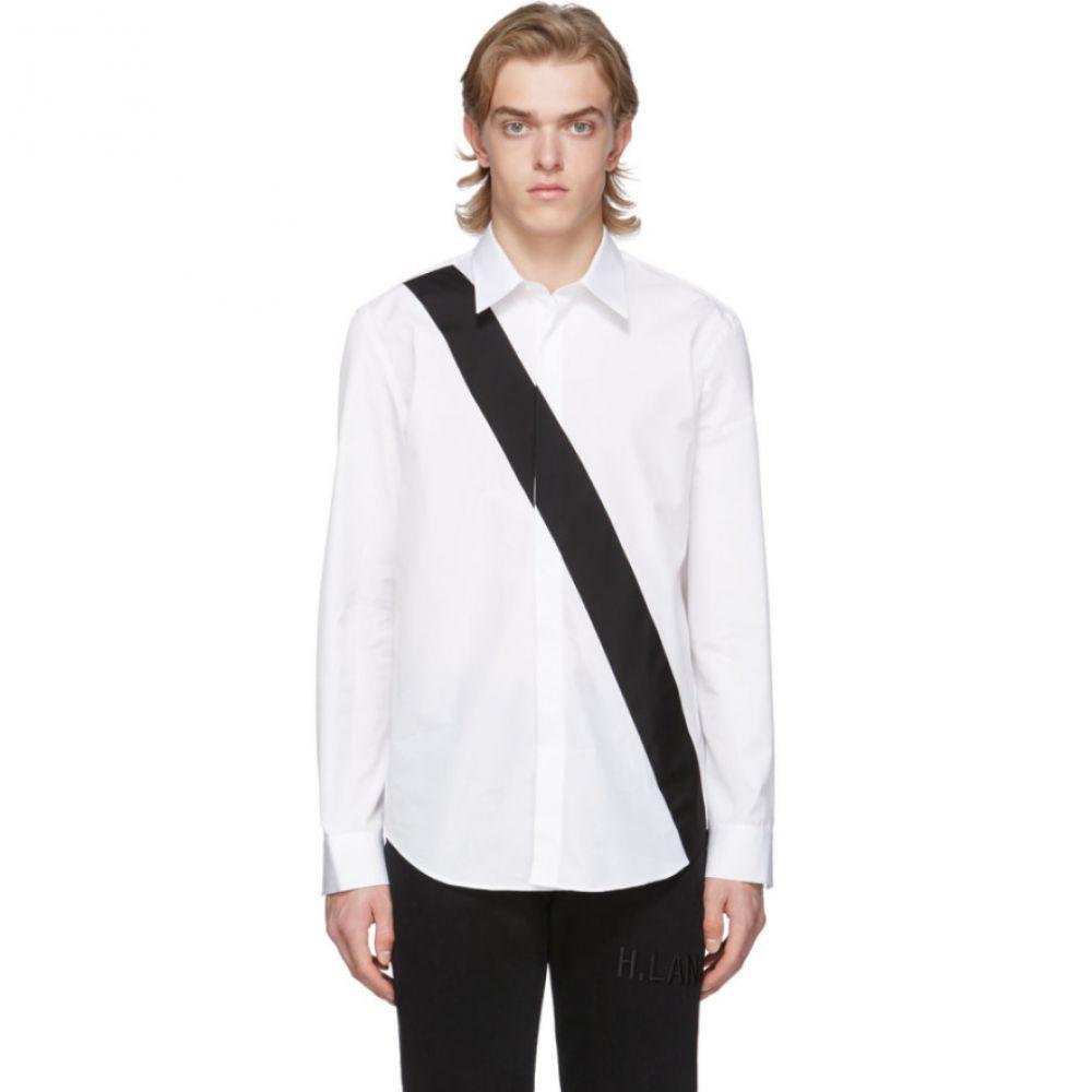 ヘルムート ラング Helmut Lang メンズ シャツ トップス【White Slash Band Shirt】