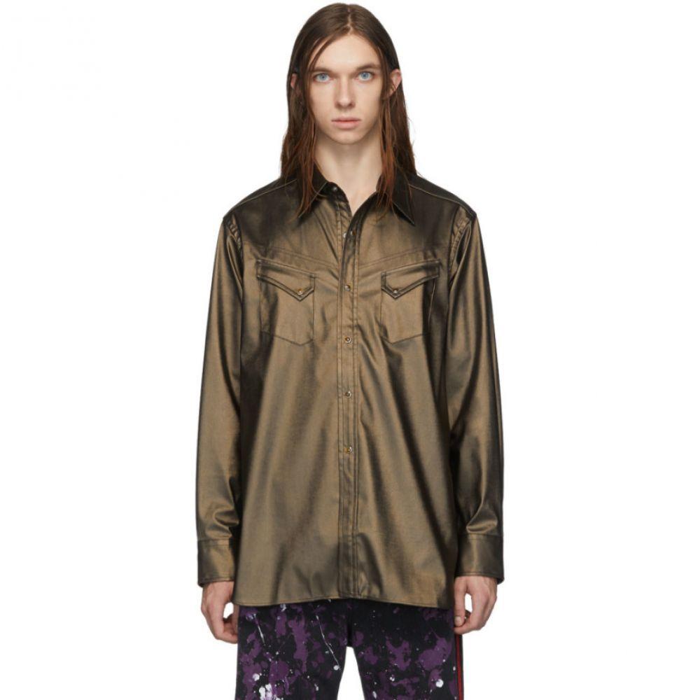 ニードルズ Needles メンズ シャツ トップス【Brown Coated Cowboy Shirt】