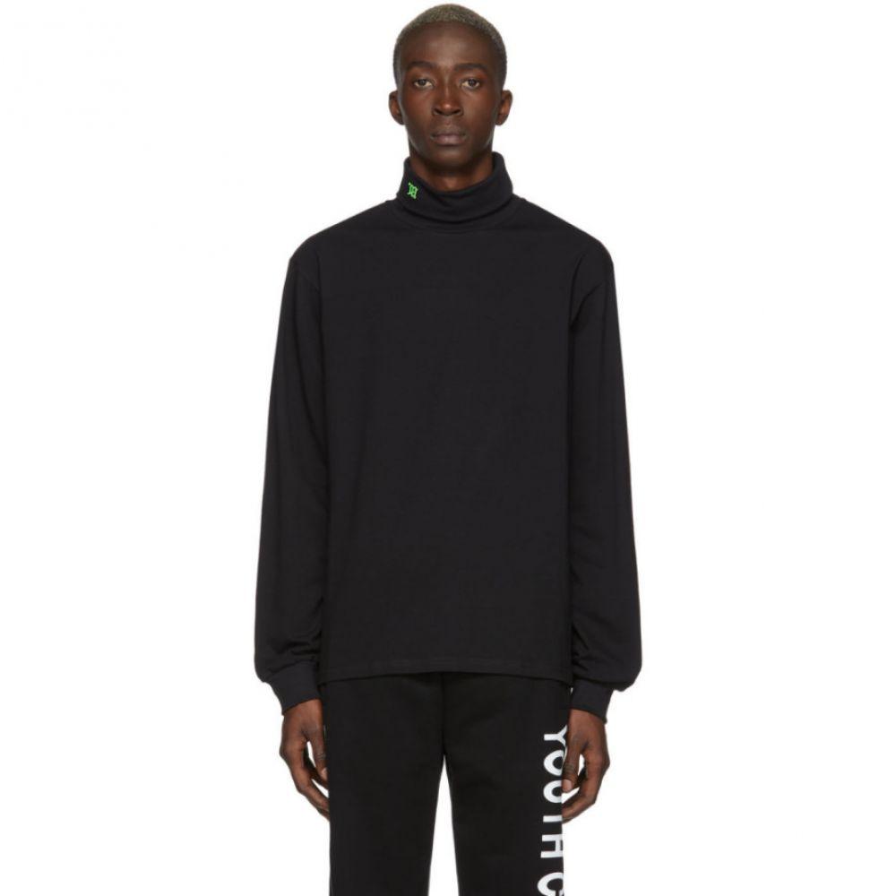ミスビヘイブ MISBHV メンズ ニット・セーター トップス【Black Logo Turtleneck】