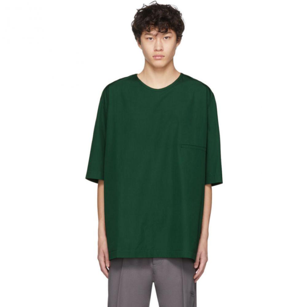 ルメール Lemaire メンズ Tシャツ トップス【Green Cotton T-Shirt】