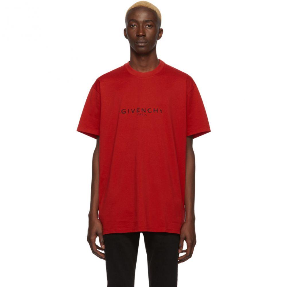 ジバンシー Givenchy メンズ Tシャツ トップス【Red 'Paris' T-Shirt】