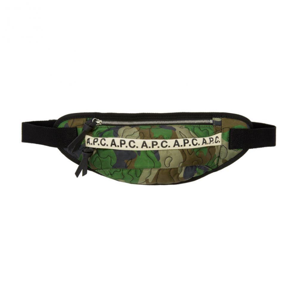 アーペーセー A.P.C. メンズ ボディバッグ・ウエストポーチ バッグ【Green Camo Lucille Hip Bag】Kaki militaire