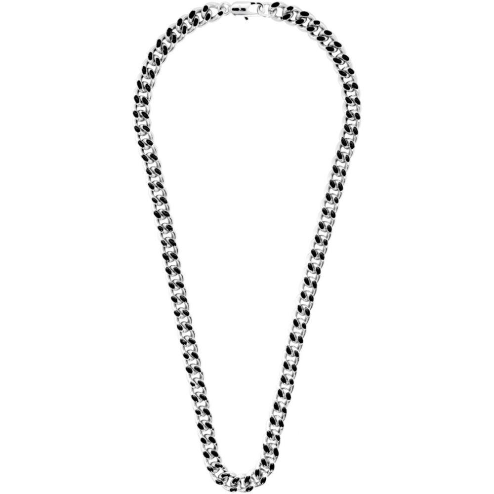アーペーセー A.P.C. メンズ ネックレス ジュエリー・アクセサリー【Silver & Black Marius Necklace】Noir