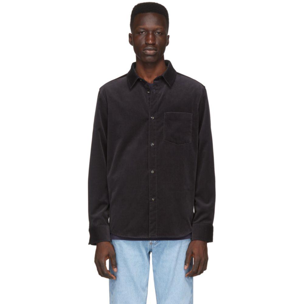 アーペーセー A.P.C. メンズ シャツ トップス【Black Velvet John Shirt】Anthracite