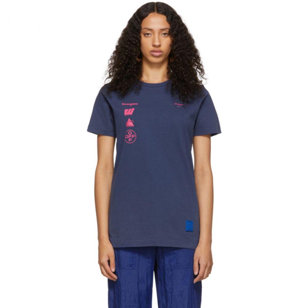 オフホワイト Off-White レディース Tシャツ トップス【Purple Marina De Silva T-Shirt】Blue/Multi