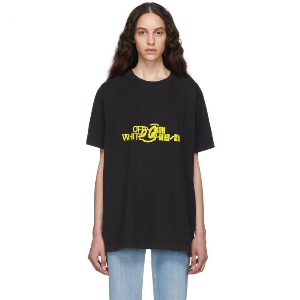 オフホワイト Off-White レディース Tシャツ トップス【Black & Yellow Halftone Over T-Shirt】Black/Yellow