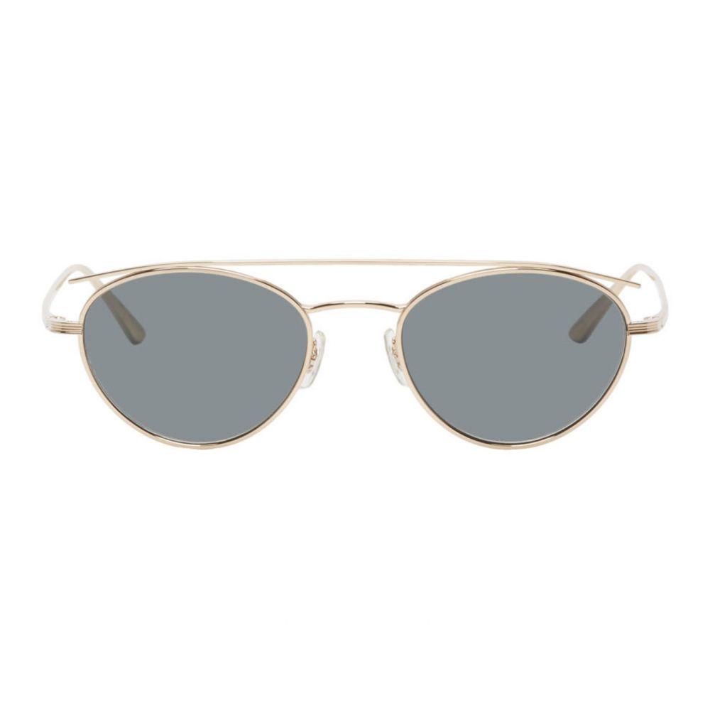 オリバーピープルズ Oliver Peoples The Row メンズ メガネ・サングラス 【Gold Hightree Sunglasses】Gold/Black