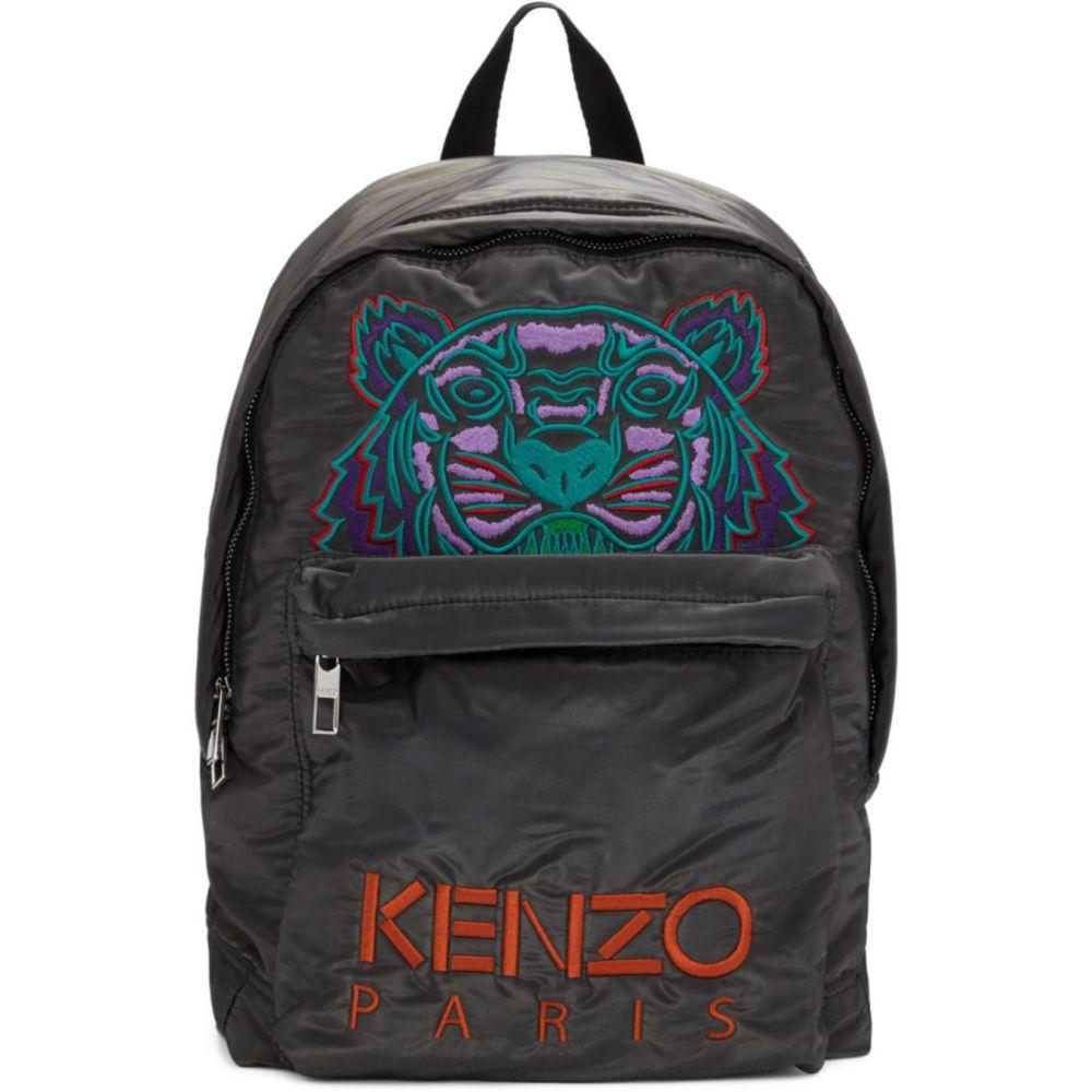 ケンゾー Kenzo メンズ バックパック・リュック バッグ【Grey Limited Edition Holiday Large Kampus Tiger Backpack】Anthracite