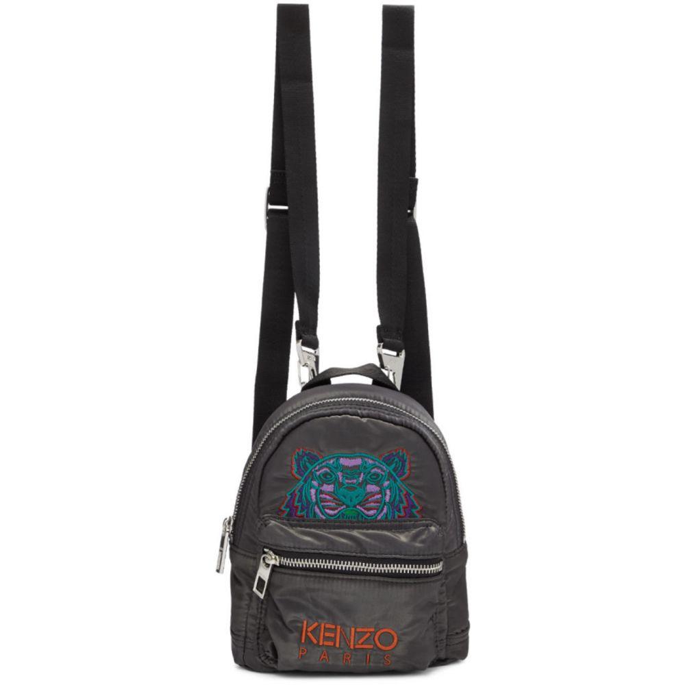 ケンゾー Kenzo メンズ バックパック・リュック バッグ【Grey Limited Edition Holiday Mini Kampus Tiger Backpack】Anthracite
