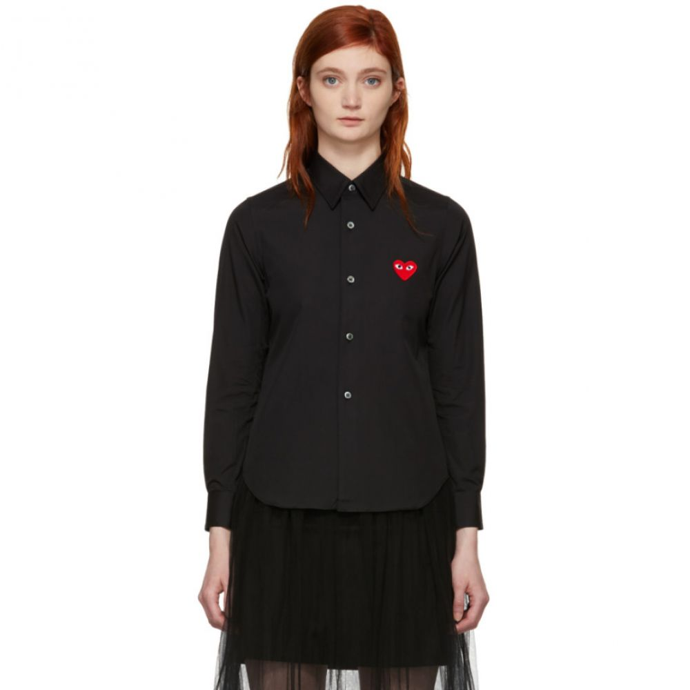 コム デ ギャルソン Comme des Garcons Play レディース ブラウス・シャツ トップス【Black Heart Patch Shirt】
