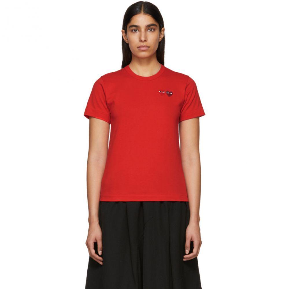 コム デ ギャルソン Comme des Garcons Play レディース Tシャツ トップス【Red Double Heart T-Shirt】