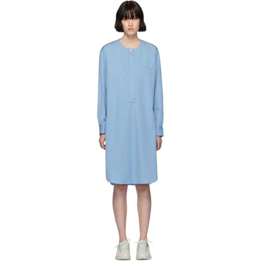 コム デ ギャルソン Comme des Garcons Shirt レディース ワンピース シャツワンピース ワンピース・ドレス【Blue Poplin Long Shirt Dress】