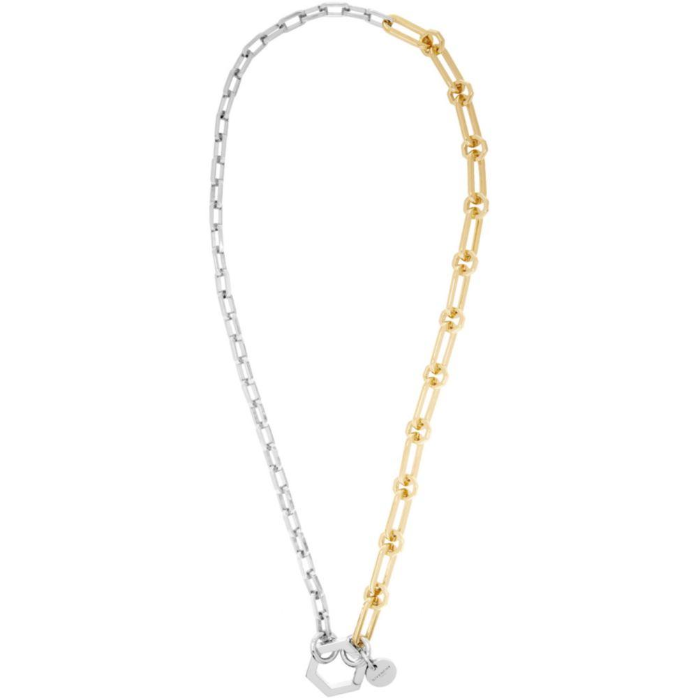 ジバンシー Givenchy メンズ ネックレス ジュエリー・アクセサリー【Gold & Silver Hexagon Hook Chain Necklace】Gold/Silver
