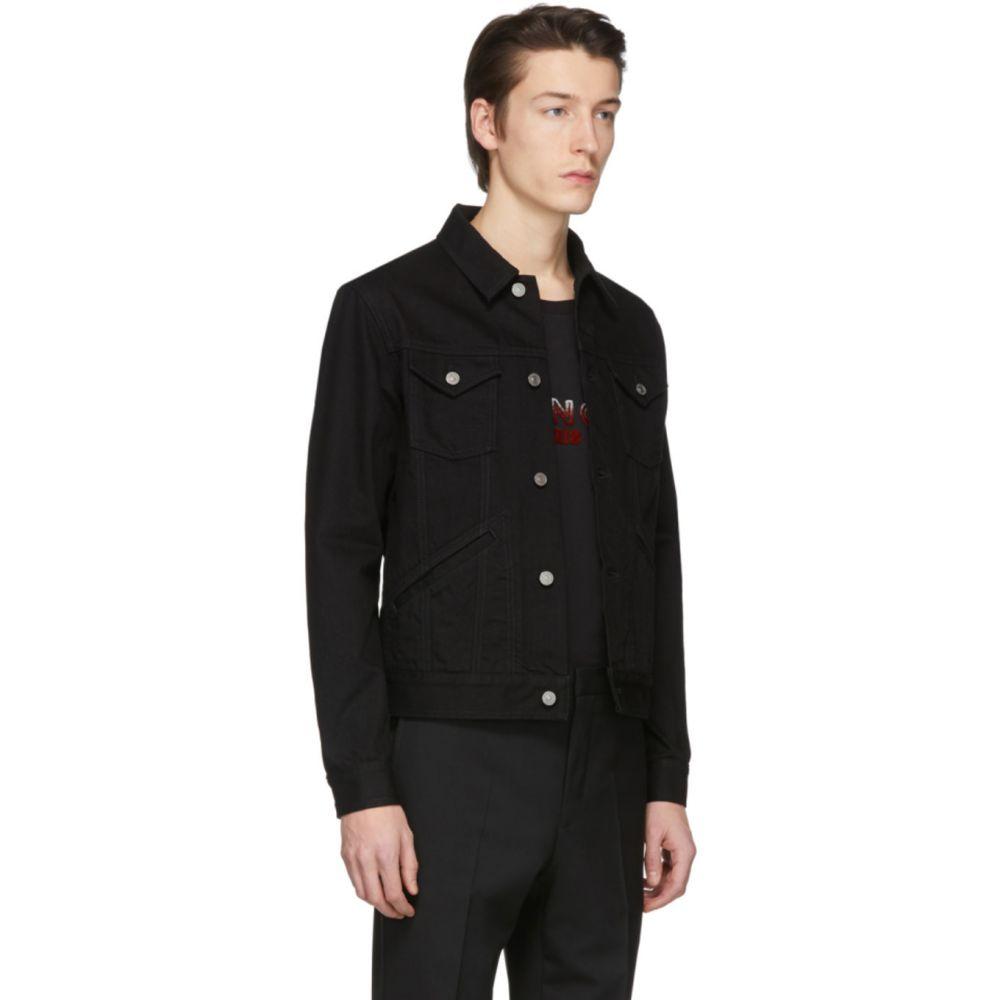 ジバンシー Givenchy メンズ ジャケット Gジャン アウター Black Denim Logo Jacket Black08PnkXwO