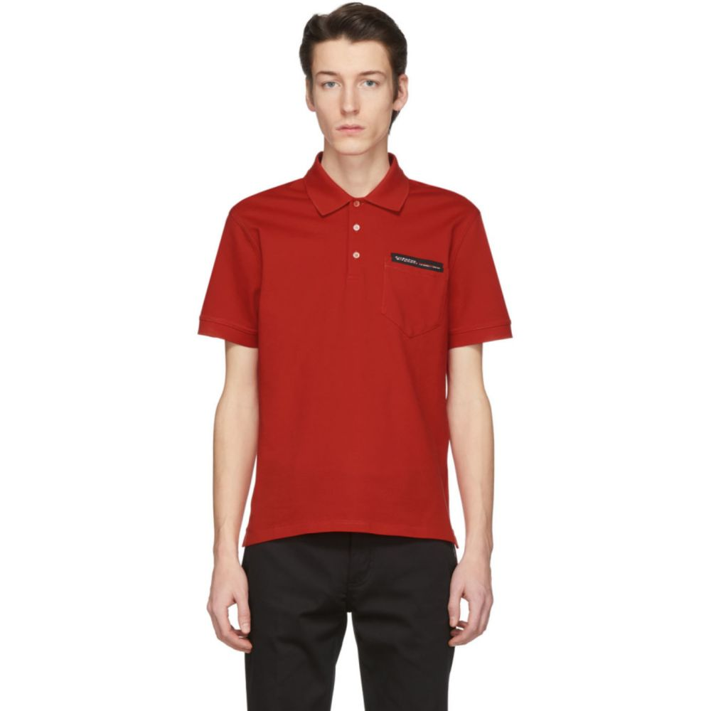 ジバンシー Givenchy メンズ ポロシャツ トップス【Red Tape Logo Polo】Red