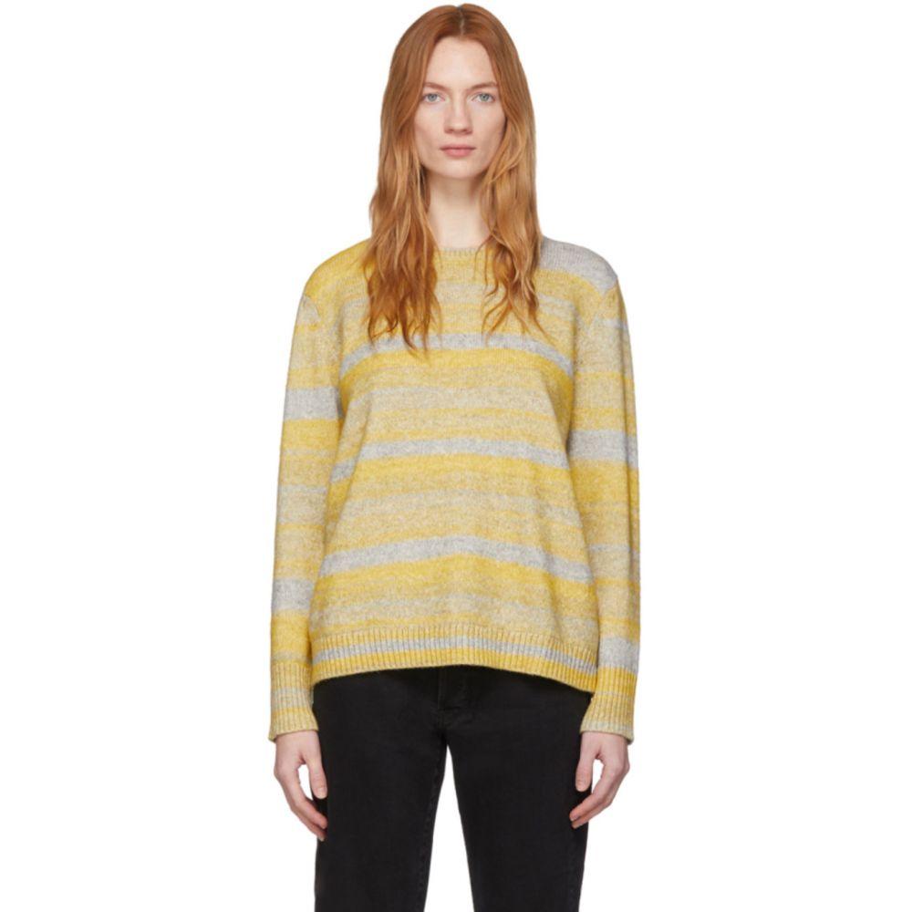 シックススリーナインセブン 6397 レディース ニット・セーター トップス【Yellow & Grey Cashmere Spacedyed Sweater】Grey/Yellow