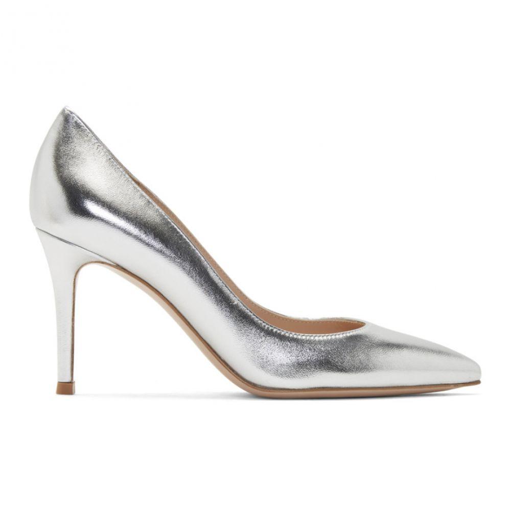 ジャンヴィト ロッシ Gianvito Rossi レディース ヒール シューズ・靴【Silver Gianvito Heels】Silver