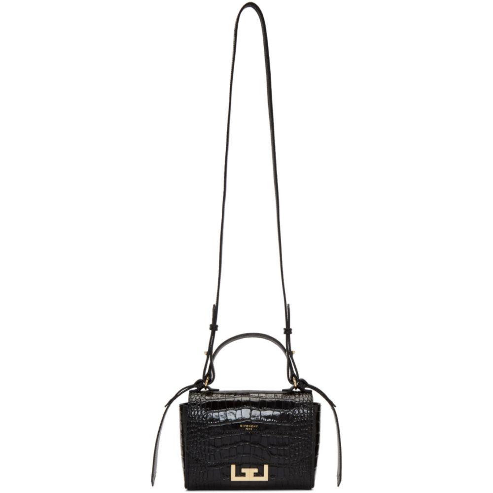 ジバンシー Givenchy レディース ショルダーバッグ バッグ【Black Mini Croc Eden Bag】Black