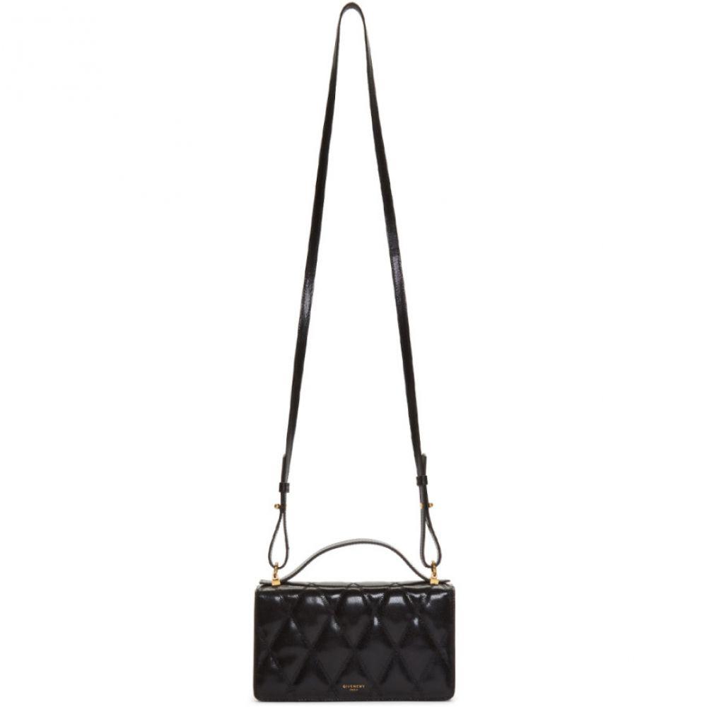 ジバンシー Givenchy レディース ショルダーバッグ ウォレットチェーン バッグ【Black Leather Wallet Chain Bag】Black
